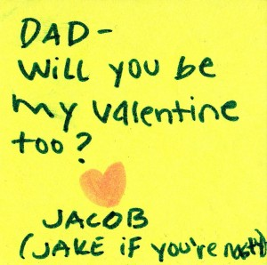 Valentine's note from the baby